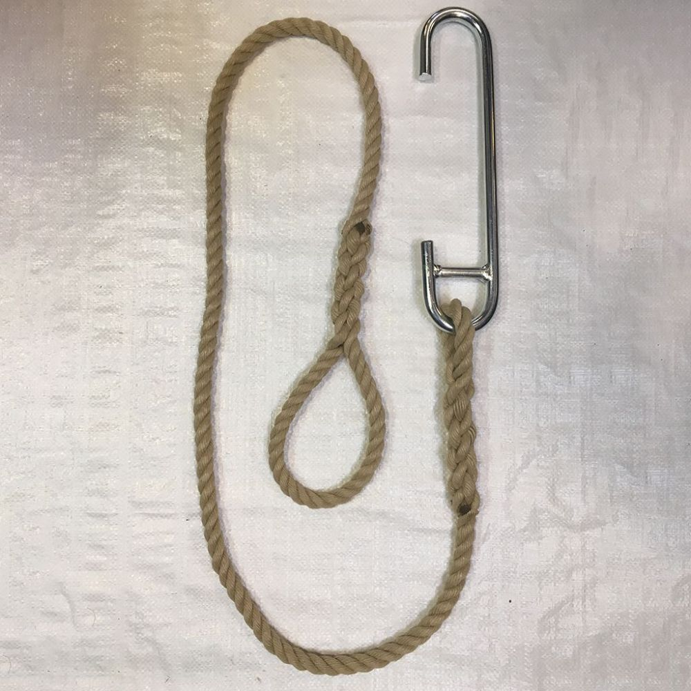 14mm Synthetic Hemp Eye Splice & Piling Hook